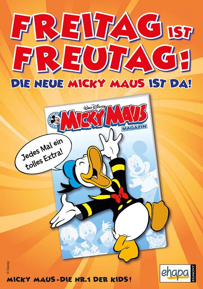 Disney Micky Maus Plakat Freitag ist Freutag