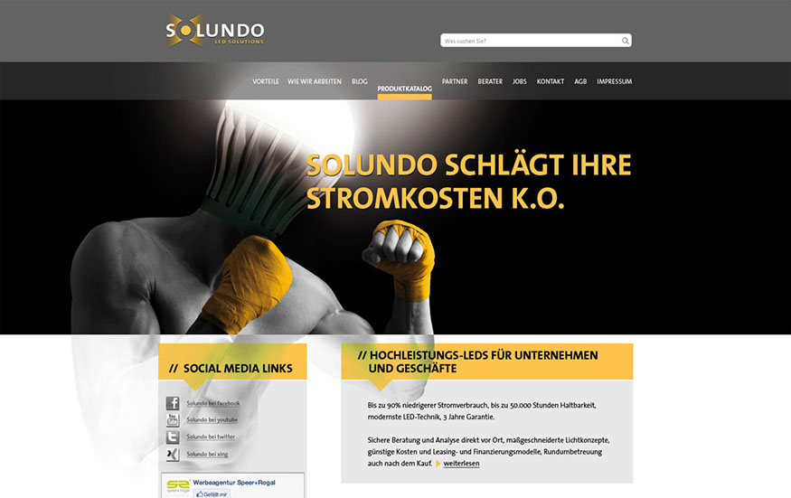 Solundo Website Home