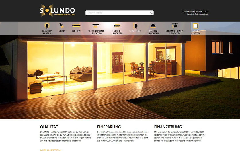 Solundo Website Shop