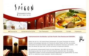 Saigon Vietnamesisches Restaurant Webseite