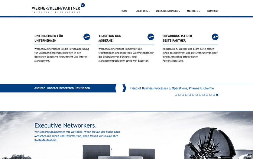 Werner Klein Partner executive Recruitment Webseite