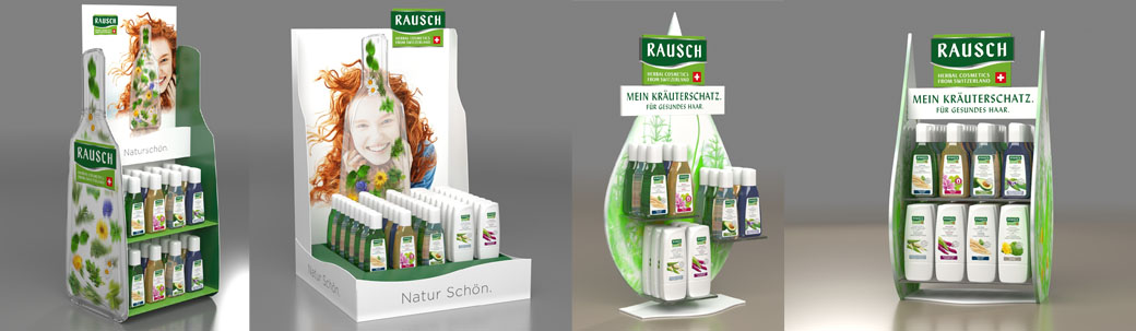 POS Displays Rausch Cosmetics