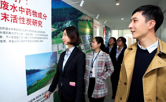 Mannheim Leistungsaustellung China - Besucher