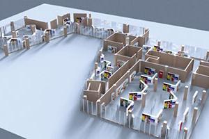 Mannheim Leistungsaustellung China - Raummodell