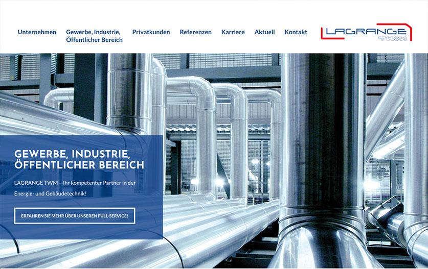 Webdesign für Industrie