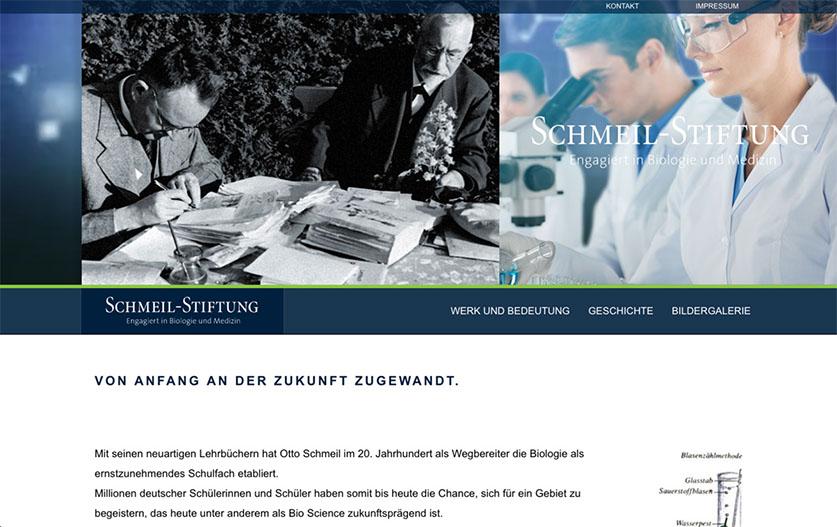 Webseite Schmeil Stiftung