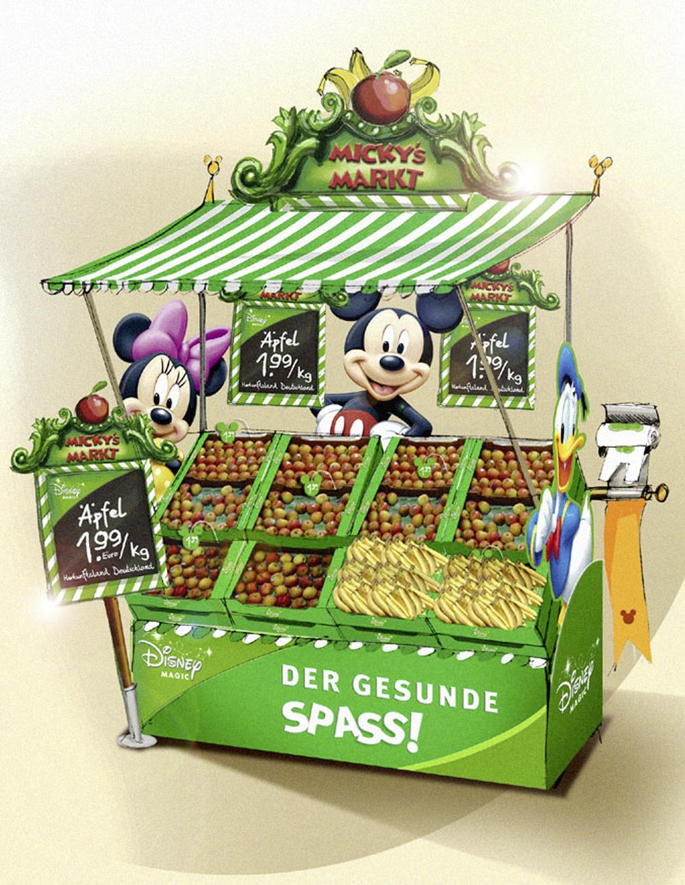 Shop in Shop System Disney Obst